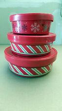 New 11-pak Xmas Storage Decorative round boxes-See description/pic of each below