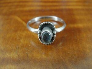 Labradorite Stone Sterling Silver 925 Ring Size 6 1/2