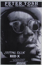 PETER TOSH The Man The Music The Murder STEPPING RAZOR RED X U.S. Premier poster