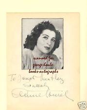 JENNIE TOUREL~AUTOGRAPH~1946~MEZZO SOPRANO~CARMEN