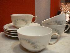 4 antiguas taza bajo porcelana fino limoges JP flor