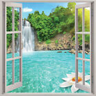 Waterfall 3D Window View Removable Wall Art Sticker Vinyl Decal Home Decor Mural