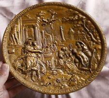 Coupe / Centre de table en bronze : Scène à l' antique d'après CELLINI