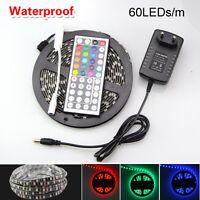 5M RGB 5050 SMD Waterproof 300 LED String Strip Light + IR Remote 12V Power