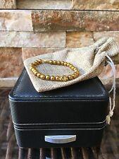 Golden Cranium Skull Luxury Bracelet 24K Gold Plated Beaded Fashionable 2017
