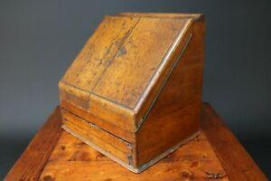 Antique Stationary Box with Writing Slope / Desktop Cabinet Oak Edwardian