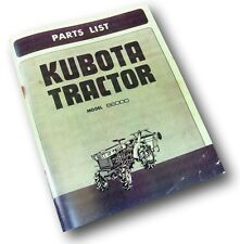 KUBOTA B6000 TRACTOR PARTS MANUAL CATALOG LIST EXPLODED VIEWS ENGINE INJECTOR