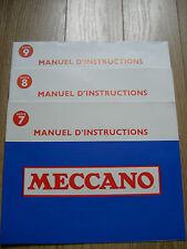 MECCANO - Notices pour boites n° 7, 8, 9