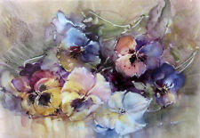"""perfect 36x24 oil painting handpainted on canvas """"beautiful flowers""""@N4571"""
