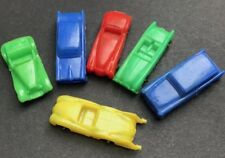 5 Vintage 1960s Cars with wheels 4.5cm Old Shop Stock Made in Hong Kong