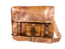 """13"""" Unisex Bag Leather Vintage Messenger Shoulder Satchel Laptop Briefcase Bag"""