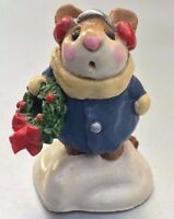 Wee Forest Folk  M-087 Holly Mouse - BRAND NEW - Never Touched - US Seller