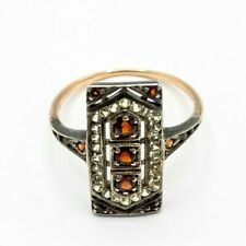 Garnet Ring Garnet & Peridot 15 CT Gold #53
