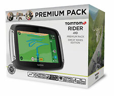 New TomTom Rider 410 PREMIUM Motorcycle GPS SATNAV Lifetime Maps Speed Cameras