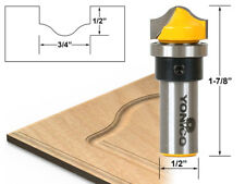 "3/4"" Faux Panel Ogee Groove Router Bit - 1/2"" Shank - Yonico 14978"