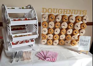 Y275 Donut Doughnut Wall Stand Ferris Wheel Wedding Birthday Sweets Candy Cart