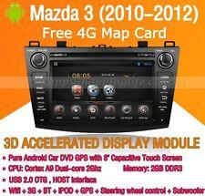 Android Multimedia Player for Mazda 3 2010-2012 DVD GPS Navigaiton Radio Stereo