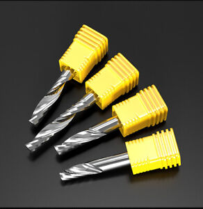 Single Blade Spiral Milling Cutter Acrylic Mdf Solid Wood Carving Knife