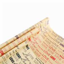 Vintage English Newspaper Gift Flower Wrap Double Sided Wrap For Festival GiftJK