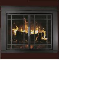 Fireplace Glass Doors Residential Retreat Finley Cabinet Doors Black Finish