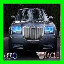 2005-2010 CHRYSLER 300 BLUE LED HEADLIGHT HALO KIT 4 RINGS by ORACLE