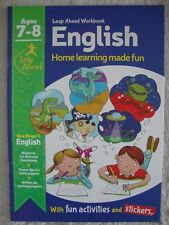 Leap Ahead Learning Book For Ages 7-8 - English - Brand New RRP £3.99