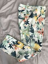 Zara Floral Trousers Size M /38