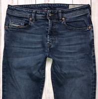 Mens DIESEL Buster Jeans W30 L32 Blue Regular Slim Tapered Wash 984NL STRETCH