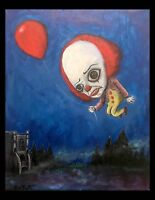 GUS FINK art artist Painting outsider horror surreal lowbrow it PENNYWISE 1990