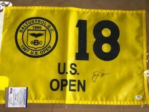 JACK NICKLAUS Signed 1967 U.S. Open Replica FLAG PSA DNA COA