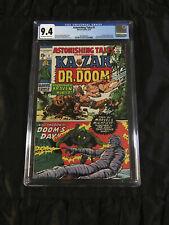 Marvel 1970 Astonishing Tales #1 CGC 9.4 NM Near Mint Dr Doom & Lee/Kirby Ka-Zar