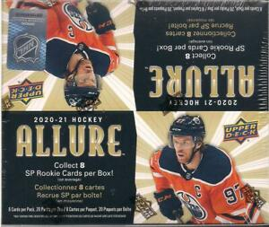 2020-21 Upper Deck Allure Hockey Factory Sealed Retail Box- 20 Packs -120 Cards