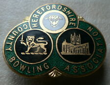 HEREFORDSHIRE COUNTY BOWLING ASSOCIATION ENAMEL BADGE