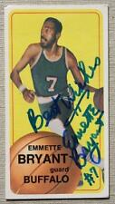 Buffalo Braves Star Emmette Bryant autographed 1970-71 Topps basketball card!
