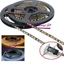 5mm Width 2835 SMD Black PCB Flexible LED Strip Light 12V DC 120leds/m 5M white