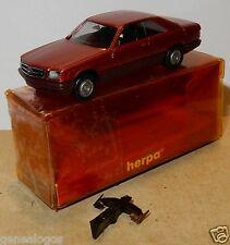 MICRO HERPA HO 1/87 MERCEDES BENZ 560 SEC ROSE METAL IN BOX bis