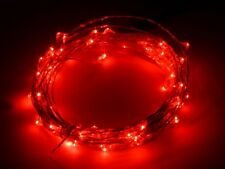 RICE 20 LED Christmas Halloween Pumpkin Craft Lights 2m RED Battery Operated UK