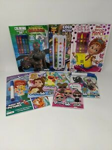 Activity Coloring Books + Imagine Ink Mess Free Marker Game Books Bundle