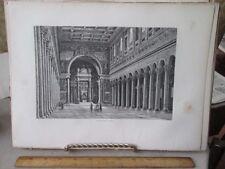Vintage Print,ST PAUL,Rome,Francis Wey,1872