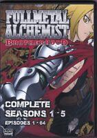 Fullmetal Alchemist Brotherhood Episodes 1-64 English Dub 5 Seasons on DVD