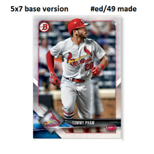 TOMMY PHAM Cardinals #87 - 5x7 Base Version #ed/49 made 2018 Topps Bowman
