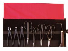 Bonsai-Werkzeug-Set Profi 9 teilig Japanqualität mit Rolltasche # HqB-225aR