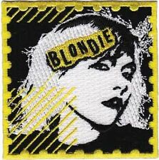 BLONDIE - POSTAGE STAMP LOGO - EMBROIDERED PATCH - BRAND NEW - MUSIC BAND 4041