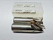 (Lot of 2) NADAV™ 3/4 inch Roughing M42 HSS-Co 3 Flute End Mill