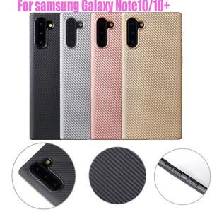 Premuin Carbon Fiber Soft Silicone Case Cover For Samsung Galaxy Note10/10 Plus