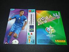 FABIO CANNAVARO ITALIA PANINI CARD FOOTBALL GERMANY 2006 WM FIFA WORLD CUP