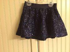 EEUC Gap Kids blue sequin skirt XS 4 5 girls Evie lined