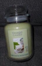 YANKEE CANDLE ~ SEA SALT & WHITE SAGE ~ LARGE 22 OZ JAR CANDLE ~ NEW