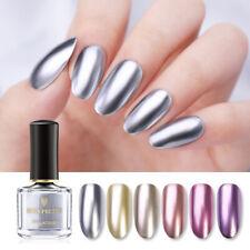 BORN PRETTY 6ml Mirror Nail Polish Metal Gold Silver Nail Art Varnish Shiny Tips