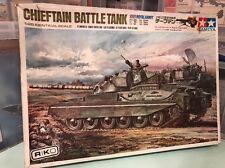 TAMIYA 1/25 dtw108 di British Army 46ton Medio Chieftain BATTLE TANK KIT MOTORIZZATO